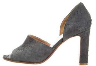 Maison Margiela Suede d'Orsay Sandals Grey Suede d'Orsay Sandals