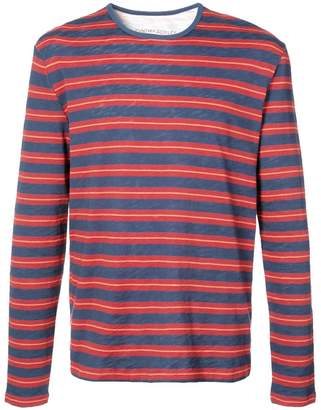 Cynthia Rowley Navy & Red Cobain Long Sleeve Shirt