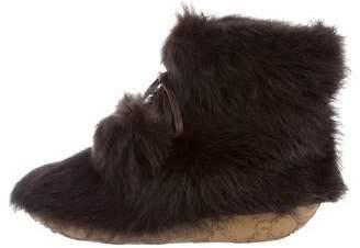 Viktor & Rolf Faux Fur Ankle Boots