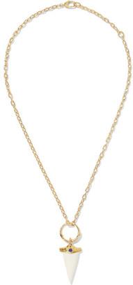 18-karat Gold, Bone And Resin Necklace
