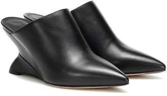 Salvatore Ferragamo F Wedge leather mules