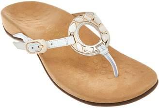Vionic Orthotic Leather Thong Sandals - Ricci