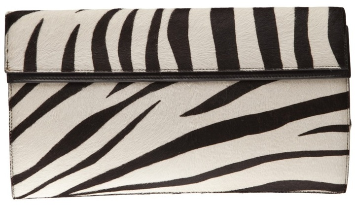 Alaïa big zebra clutch