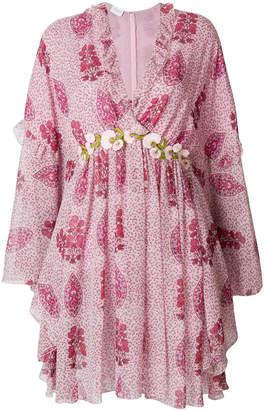 Giambattista Valli floral long-sleeved dress