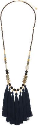 Nakamol Long Mixed Stone & Tassel Necklace