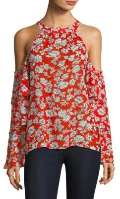 Red Haute Tiered Floral-Print Top