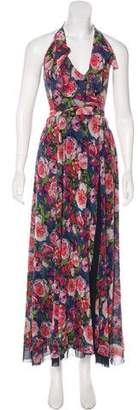 Fuzzi Floral Halter Dress