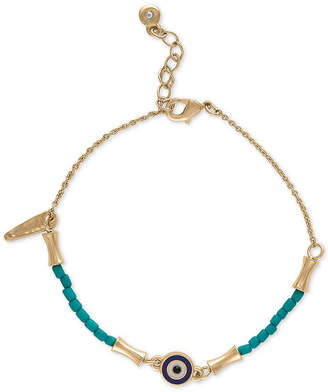 Rachel Roy Gold-Tone Beaded Flex Bracelet