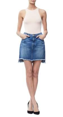 Ga Sale The Stagger Denim Mini Skirt - Blue172