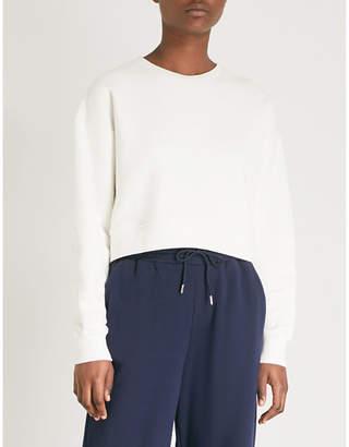 NINETY PERCENT Ginnie cropped organic cotton sweatshirt