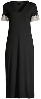 Natori Shangrila Lace-Trim Night Gown