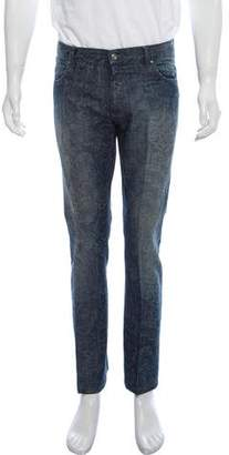 Etro Linen-Blend Paisley Print Pants