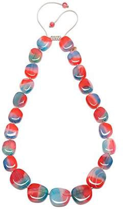 Lola Rose Women Multicolour Coral Agate Strand Necklace of Length 49cm 693790