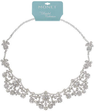 clear MONET JEWELRY Monet Jewelry Womens Statement Necklace