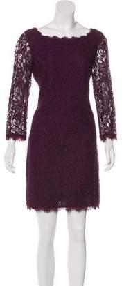 Diane von Furstenberg Laced Knee-Length Dress