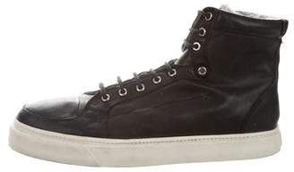 CNC Costume National Leather High-Top Sneakers