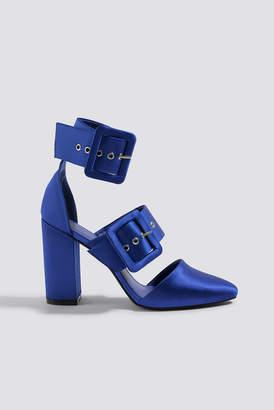 Na Kd Shoes Multi Buckle Block Heels Cobalt