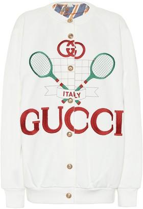 Gucci Tennis cotton cardigan