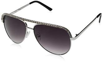 A. J. Morgan A.J. Morgan Women's Crystal Lucy Aviator Sunglasses