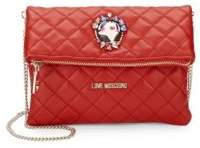 Love Moschino Quilted Foldover Clutch