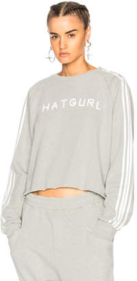 Baja East That Girl Cropped Sweatshirt