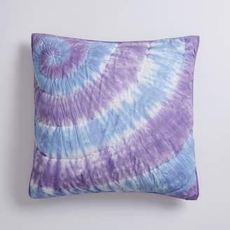 Pottery Barn Teen Dunes Tie Dye Euro Sham, Purple Multi