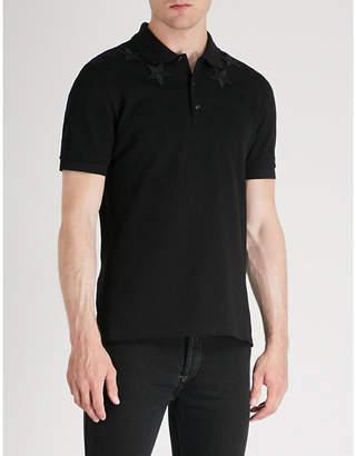 Givenchy Star-appliqué cotton-piqué polo shirt