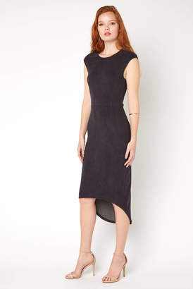 Level 99 Suede High Low Dress