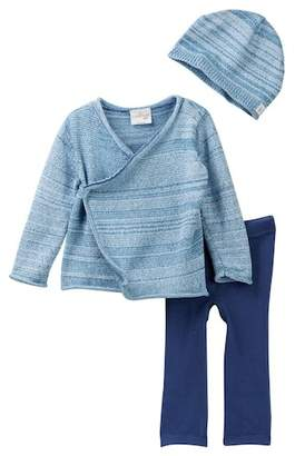 Cuddl Duds Space Dye Cardigan, Pants, Hat, & Socks Set (Baby Boys)