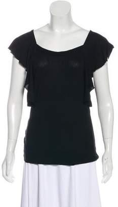 Etoile Isabel Marant Short Sleeve Square Neck Top