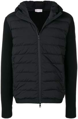 Moncler padded knitted jacket