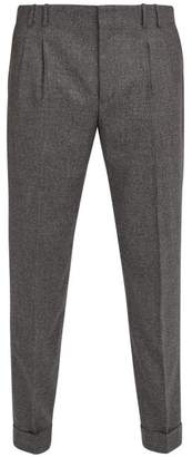 Paul Smith Pleated Wool Trousers - Mens - Grey