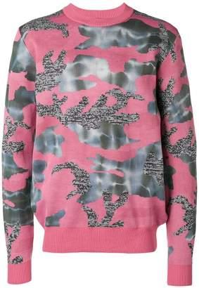 Diesel camouflage contrast sweatshirt