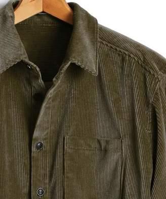 Todd Snyder Corduroy Shirt Jacket in Olive