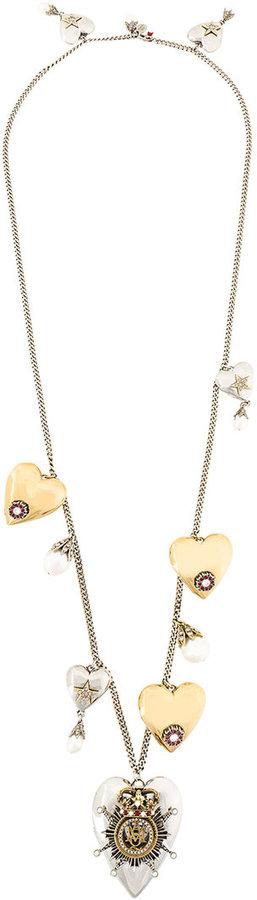 Alexander McQueenAlexander McQueen heart charm necklace