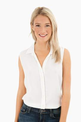 The Shirt by Rochelle Behrens The Signature Sleeveless Shirt in Cream