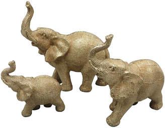 Three Hands Elephant Figures (Set of 3)