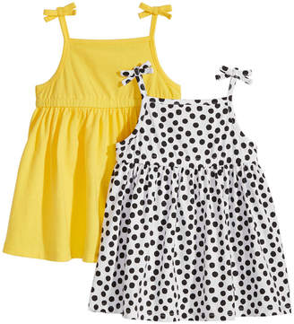 First Impressions 2-Pack Cotton Sundresses, Baby Girls, Created for Macy's