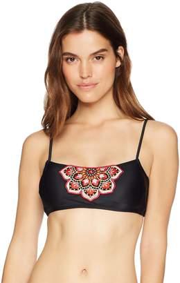 8f86d36035e34 Mae Women s Swimwear Molly Floral Applique Bikini Top (for A-C Cups)