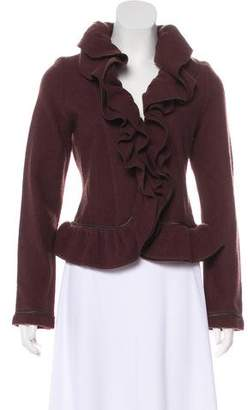 Magaschoni Ruffle-Accented Wool Jacket