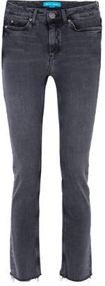 MiH Jeans Daily Frayed High-rise Straight-leg Jeans