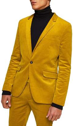Topman Corduroy Super Skinny Suit Jacket