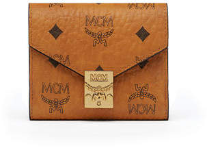 MCM Visetos Original Flap French Wallet