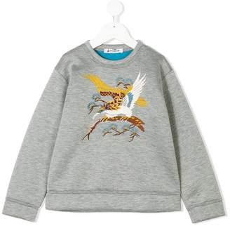 Dondup Kids bird embroidered sweatshirt