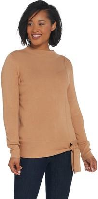 Belle By Kim Gravel Belle by Kim Gravel Feather Knit Mock Neck Sweater