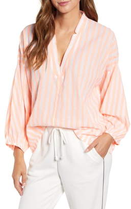 Lou & Grey Stripe Poet Blouse