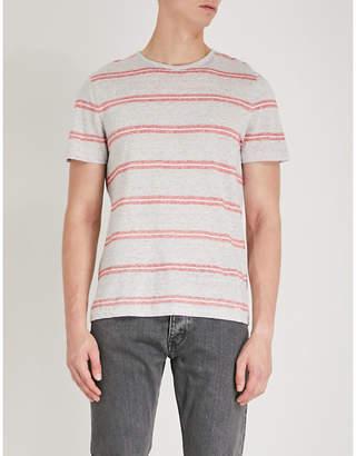 Michael Kors Striped linen-blend T-shirt