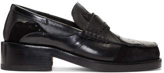 Maison Margiela Black Patchwork Loafers