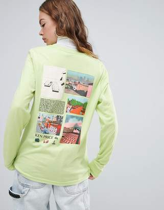 Stussy Long Sleeve T-Shirt With Ken Price Front Graphic