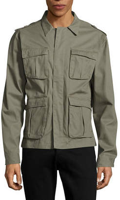 NATIVE YOUTH Sharrow Twill Button-Front Jacket
